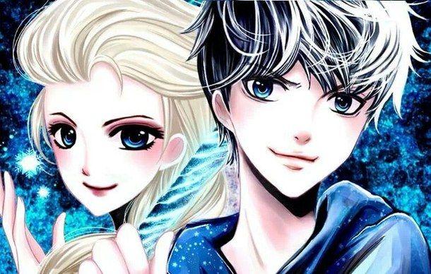 Эльза и Джек картинки их любви, красивые скетчы (8)