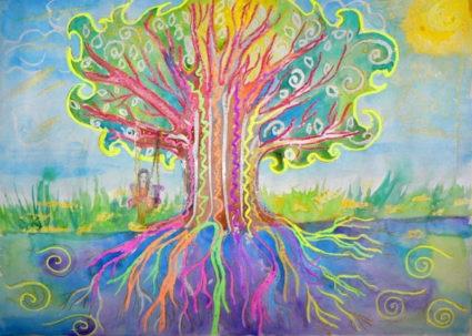 Волшебное дерево нарисовать карандашом, идеи (19)