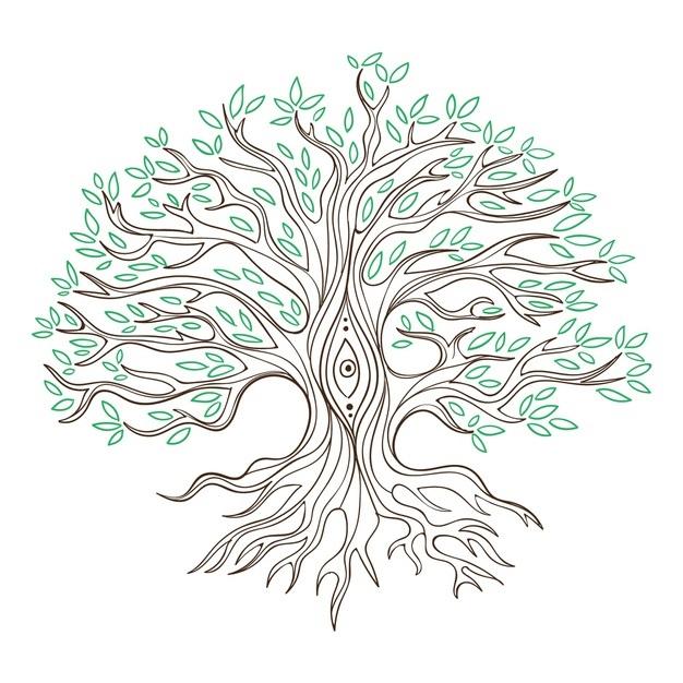 Волшебное дерево нарисовать карандашом, идеи (2)