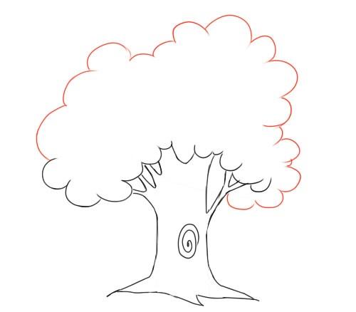 Волшебное дерево нарисовать карандашом, идеи (24)
