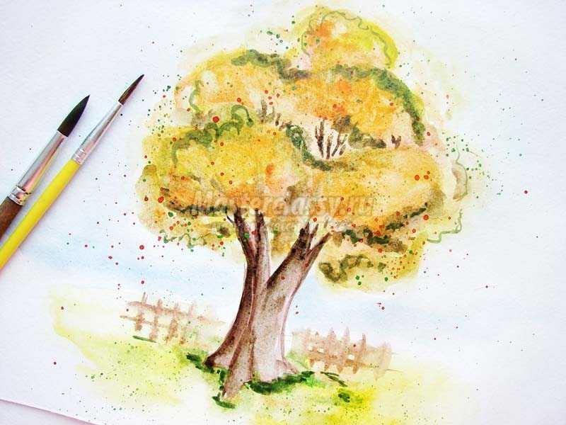 Волшебное дерево нарисовать карандашом, идеи (4)