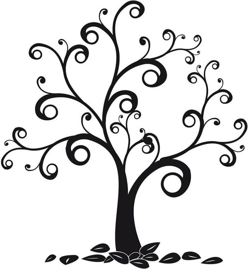 Волшебное дерево нарисовать карандашом, идеи (9)