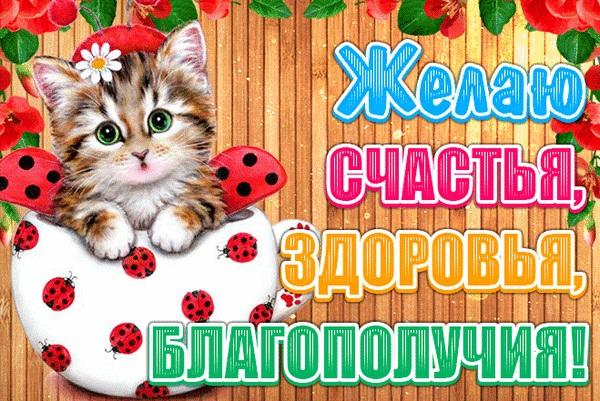 Красивая открытка здоровья и счастья (8)