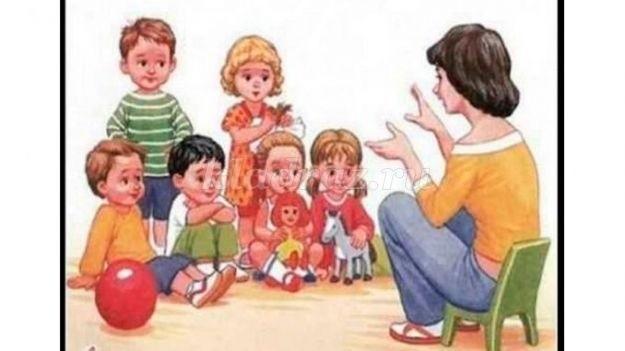 Красивый рисунок дети и воспитатель (14)