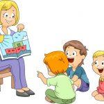 Красивый рисунок дети и воспитатель