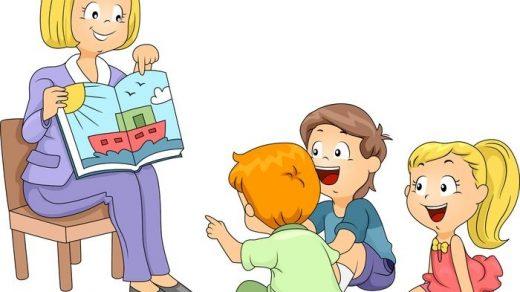 Красивый рисунок дети и воспитатель (2)