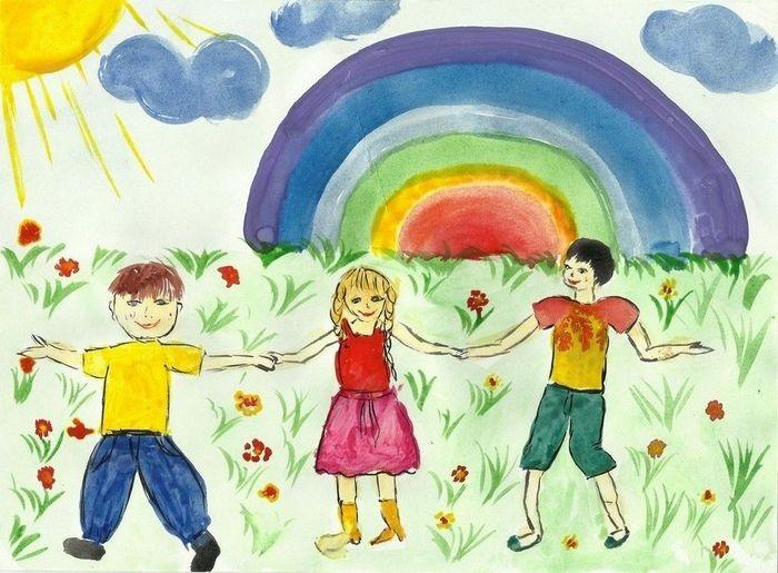 Красивый рисунок дети и воспитатель (22)