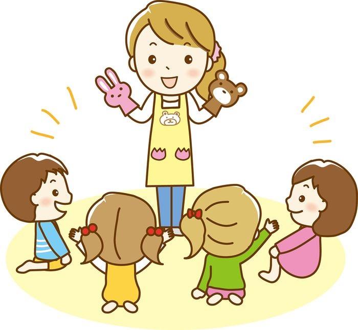 Красивый рисунок дети и воспитатель (3)