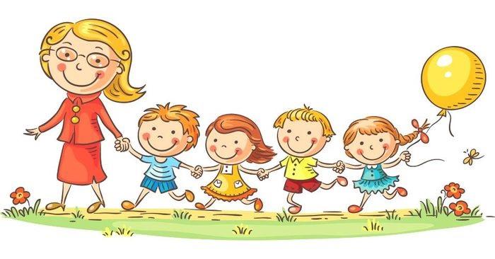 Красивый рисунок дети и воспитатель (8)