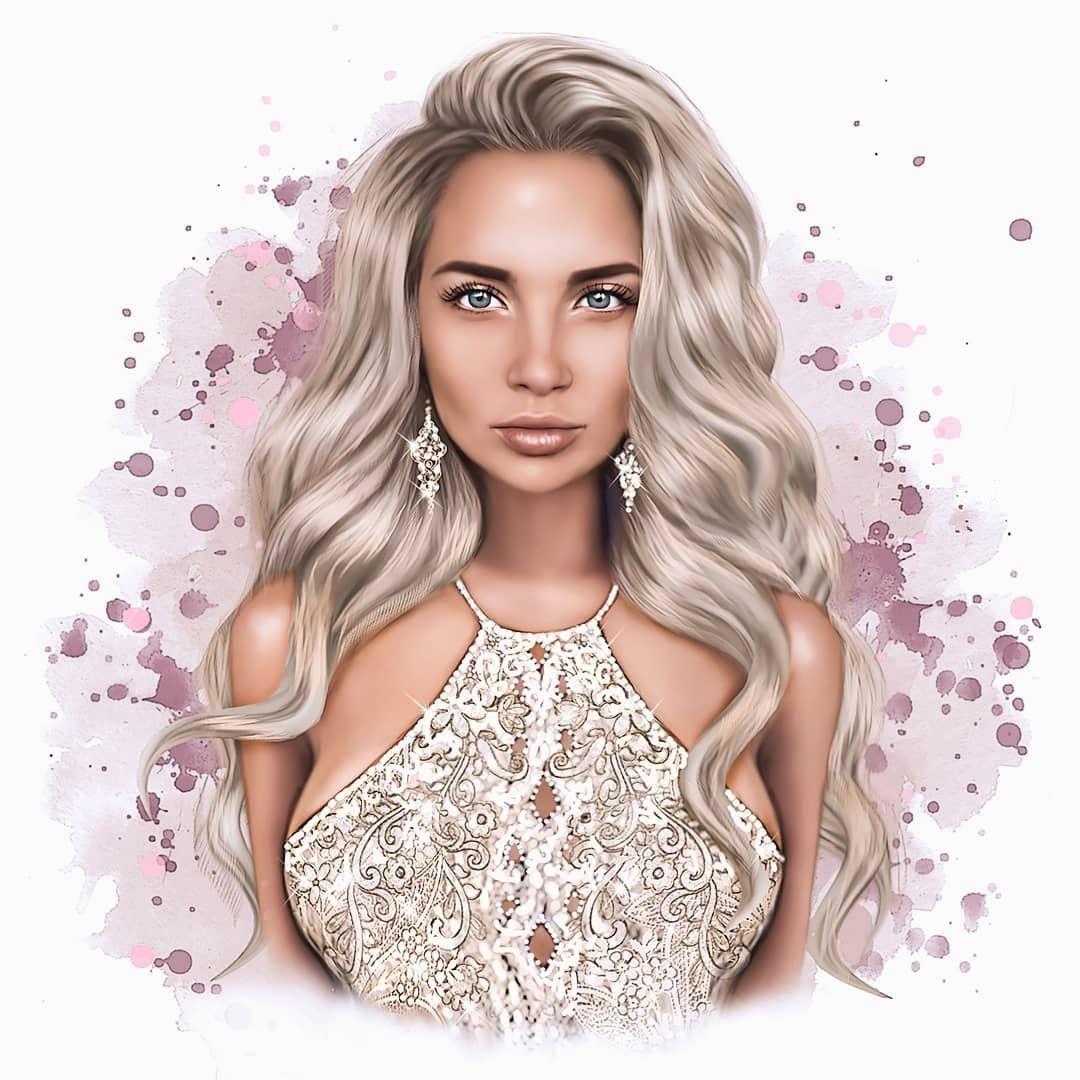 Красивый рисунок на аву девушки (10)