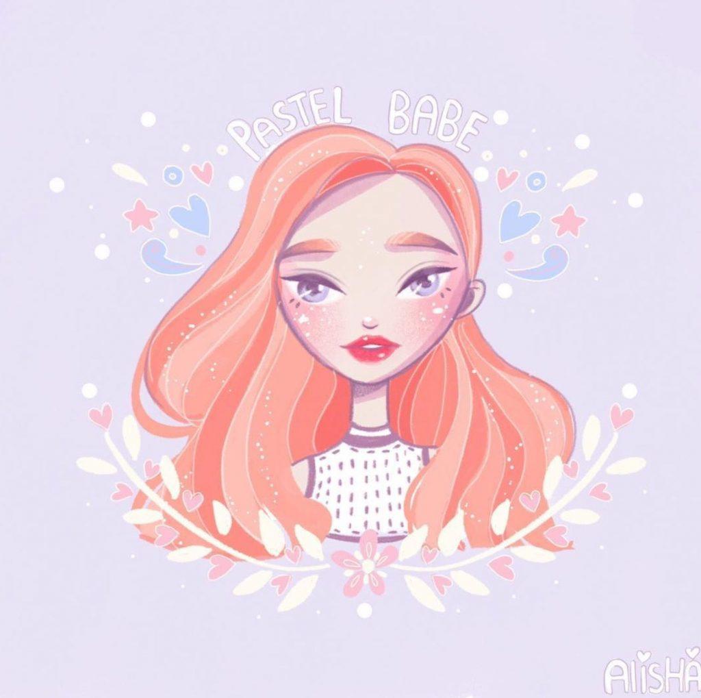 Красивый рисунок на аву девушки (11)