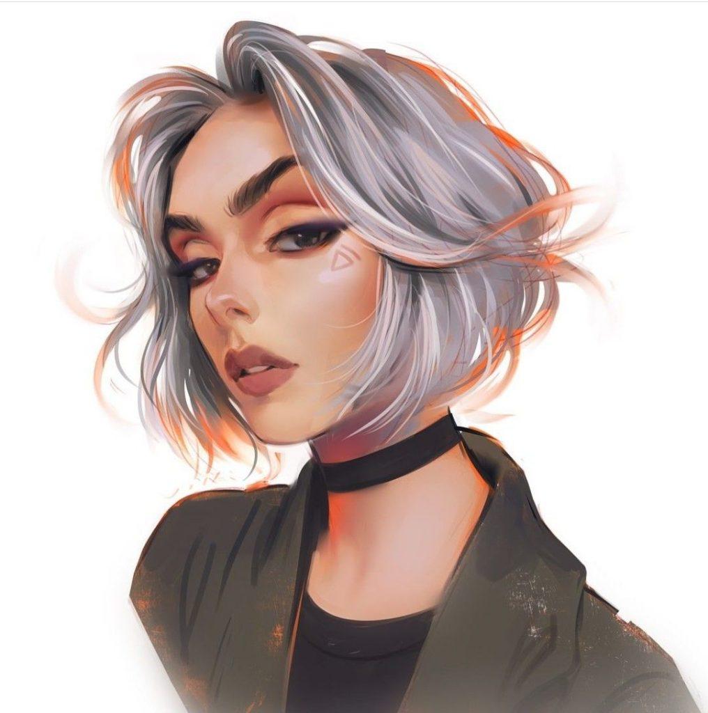 Красивый рисунок на аву девушки (12)