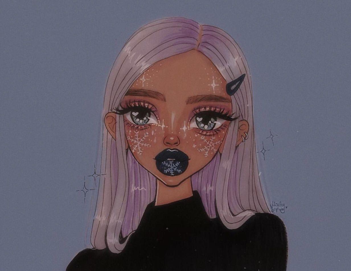 Красивый рисунок на аву девушки (15)