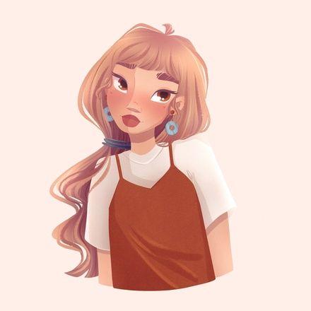Красивый рисунок на аву девушки (2)