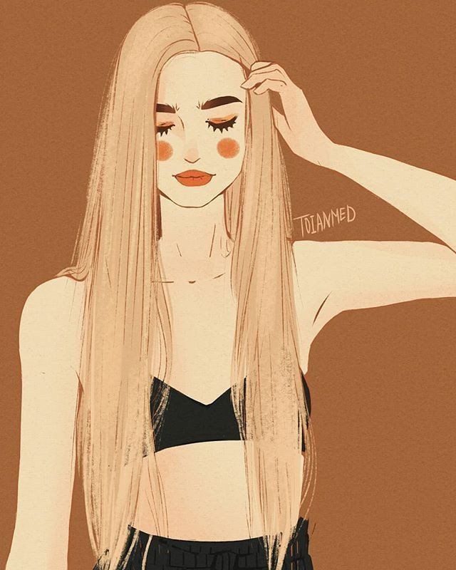 Красивый рисунок на аву девушки (21)