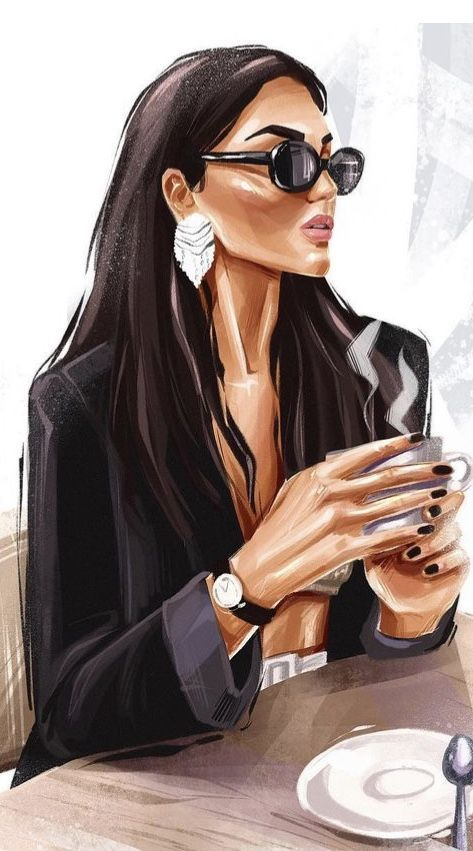 Красивый рисунок на аву девушки (24)