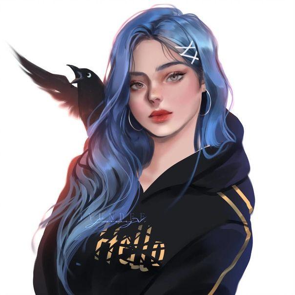 Красивый рисунок на аву девушки (31)