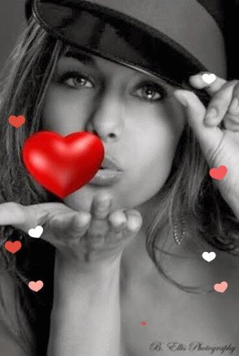 Открытка воздушный поцелуй мужчине (1)