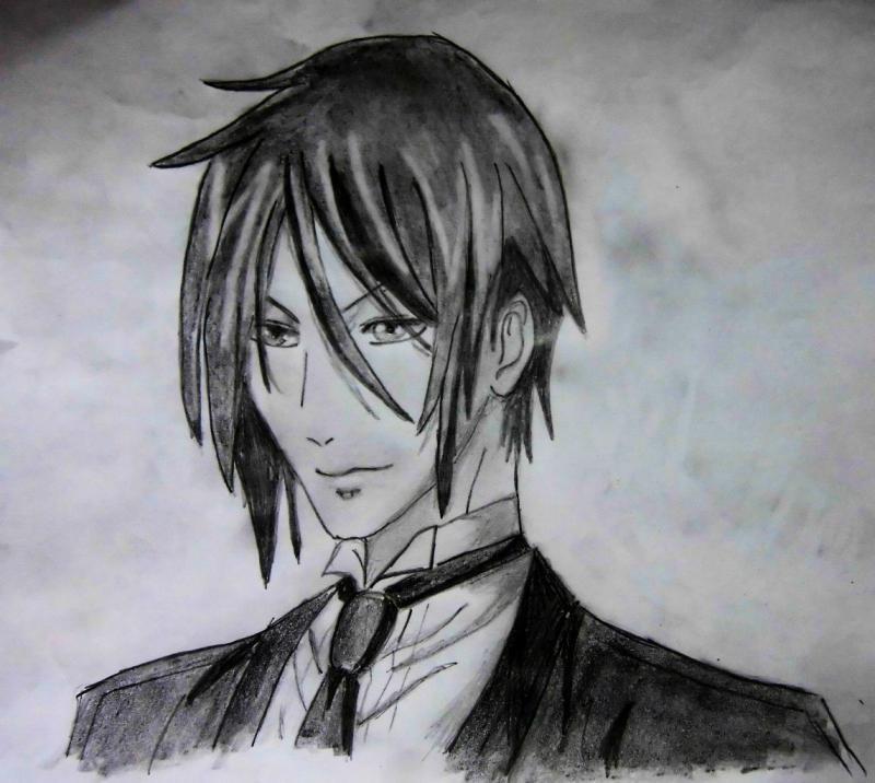 Темный Дворецкий рисунки карандашом, простенькие (14)