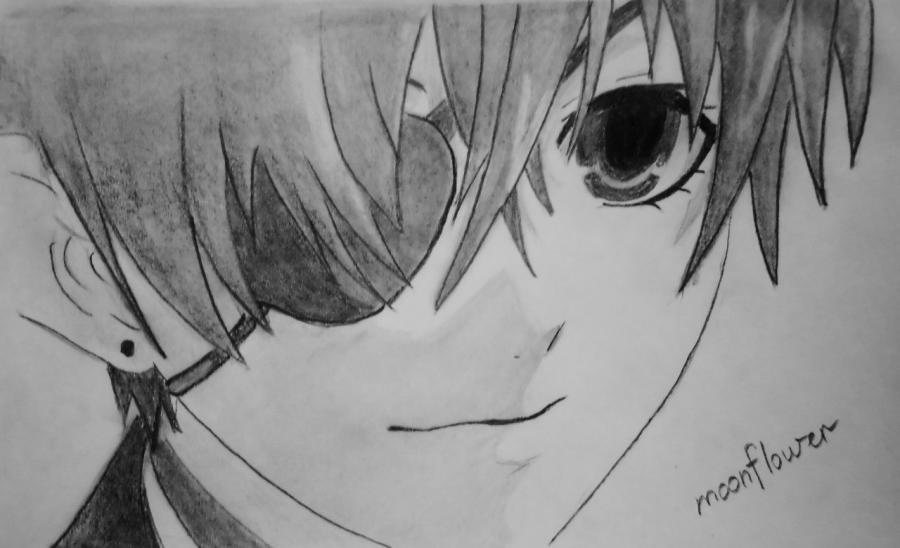 Темный Дворецкий рисунки карандашом, простенькие (18)