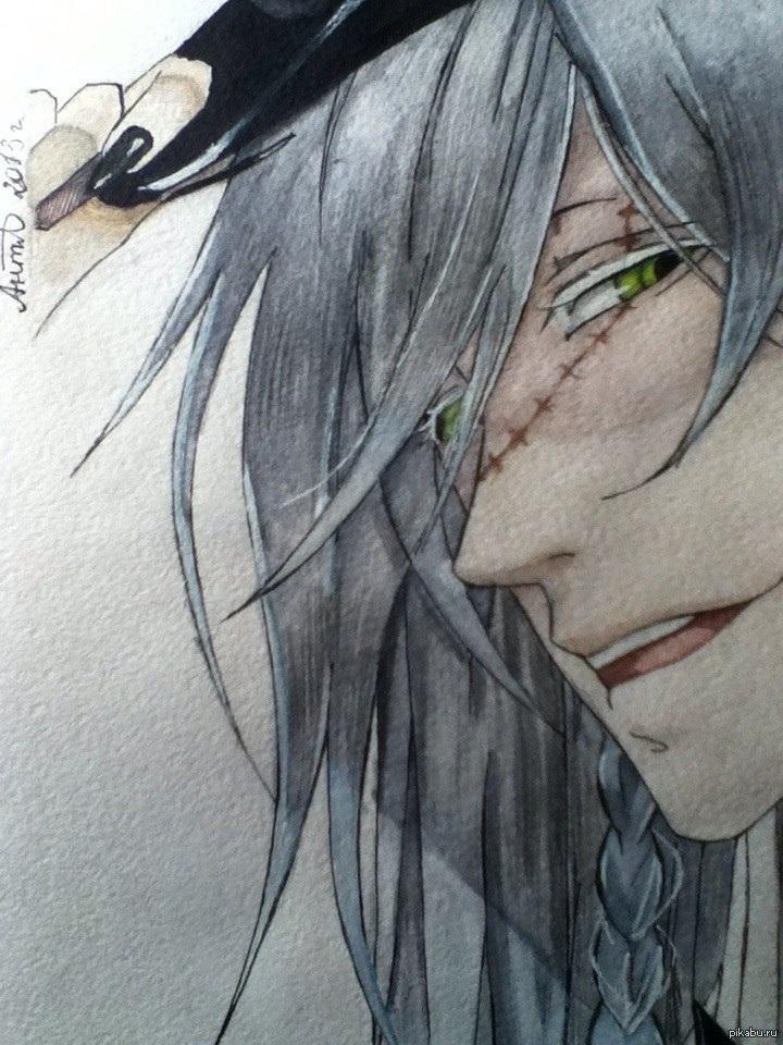 Темный Дворецкий рисунки карандашом, простенькие (2)