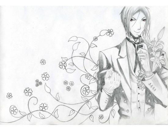 Темный Дворецкий рисунки карандашом, простенькие (21)