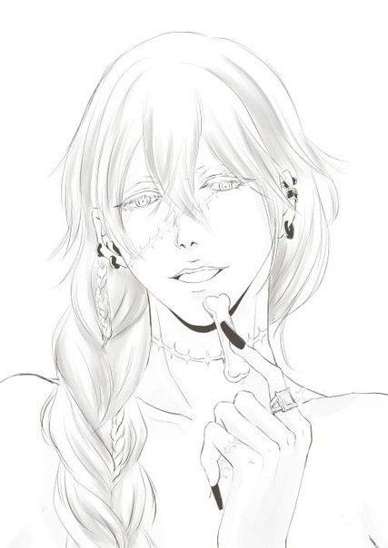 Темный Дворецкий рисунки карандашом, простенькие (24)