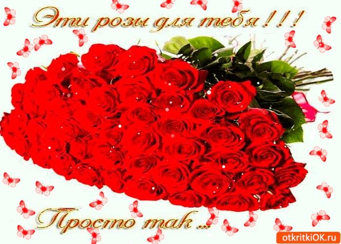 Для тебя розы - самые милые открытки букеты для девушек (15)