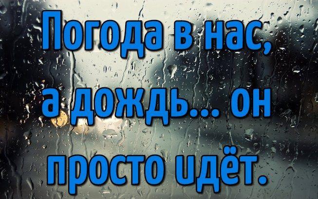 Доброе утро картинки дождь или с дождем для друзей (17)