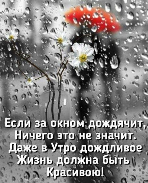 Доброе утро картинки дождь или с дождем для друзей (19)