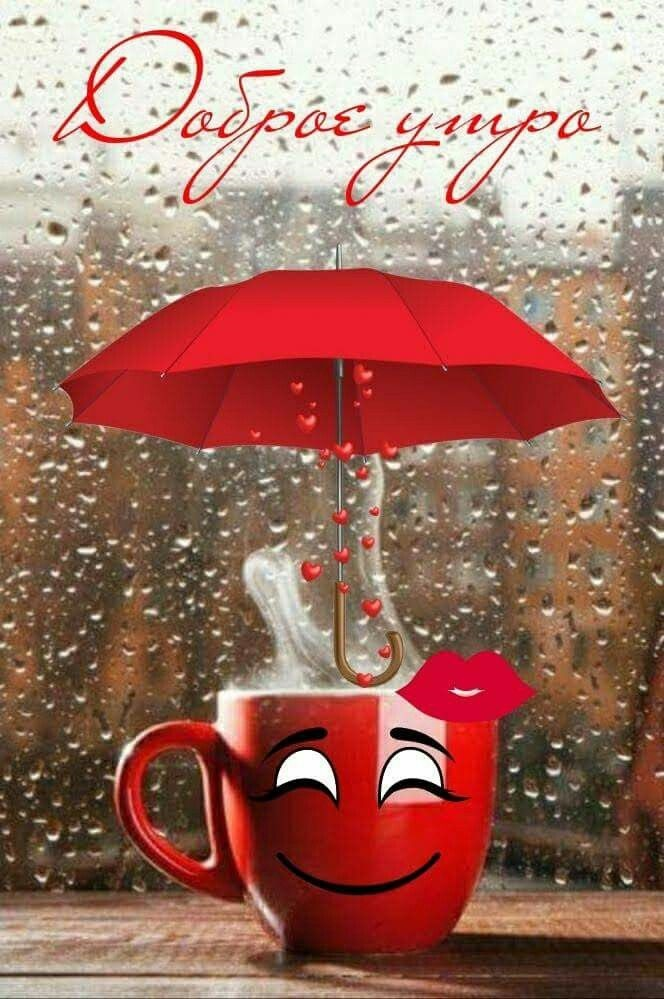 Доброе утро картинки дождь или с дождем для друзей (9)