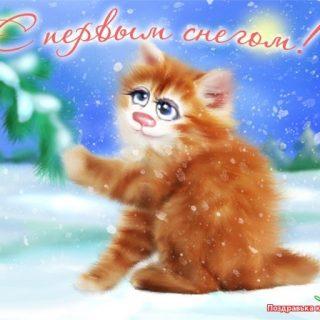 Первый снег картинки и открытки на данную тематику (3)