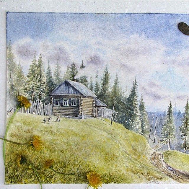 Домик в деревне картинки для детей для рисования (10)