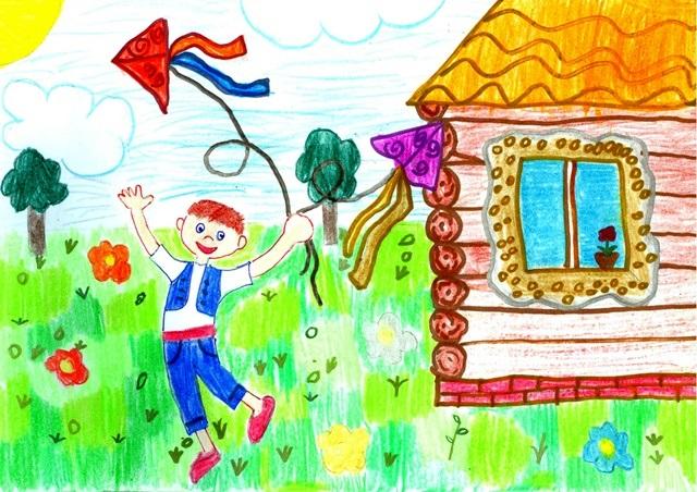 Домик в деревне картинки для детей для рисования (12)
