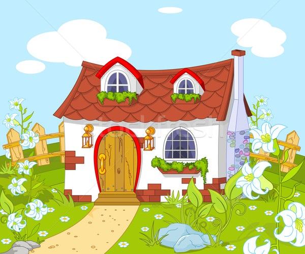 Домик в деревне картинки для детей для рисования (16)