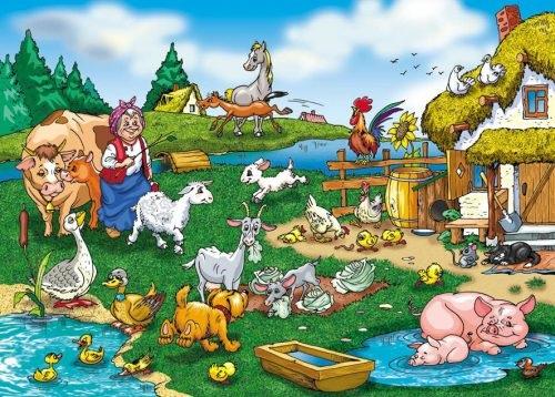 Домик в деревне картинки для детей для рисования (18)