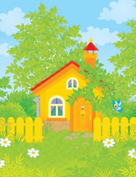 Домик в деревне картинки для детей для рисования (2)