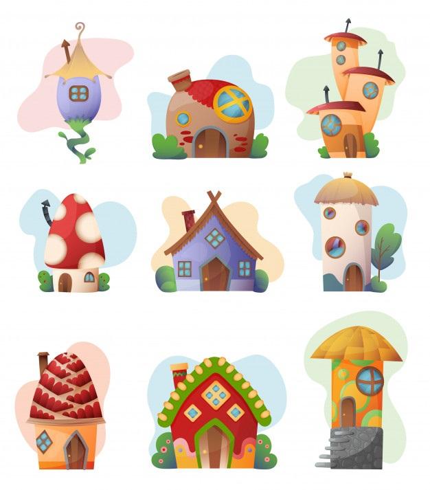 Домик в деревне картинки для детей для рисования (20)