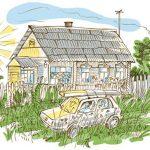 Домик в деревне картинки для детей для рисования