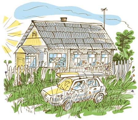 Домик в деревне картинки для детей для рисования (21)