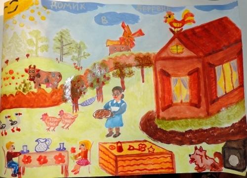 Домик в деревне картинки для детей для рисования (3)