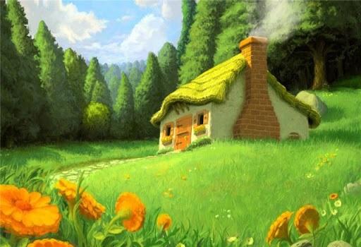 Домик в деревне картинки для детей для рисования (6)