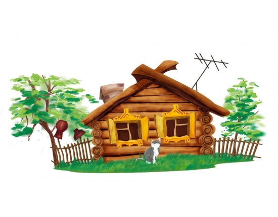 Домик в деревне картинки для детей для рисования (8)