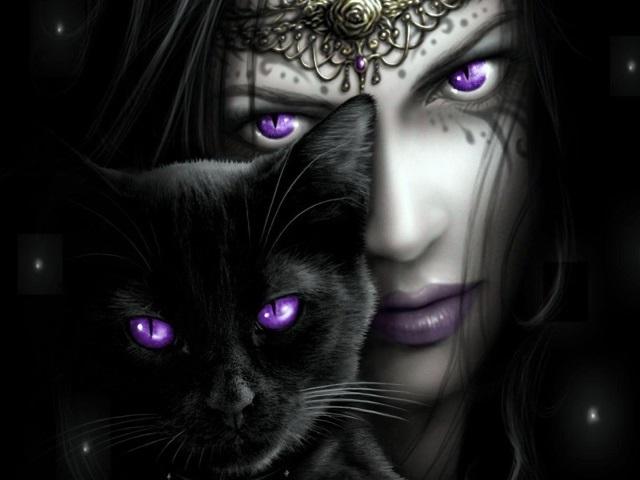 Классные картинки на аву черная кошка (17)