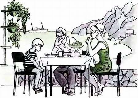 Красивый рисунок семья за столом карандашом (21)