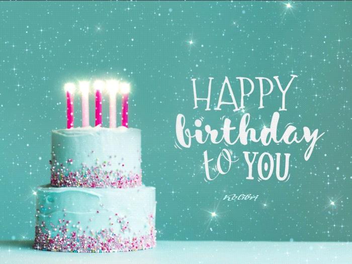 Милая открытка на День рождения тумблер (12)