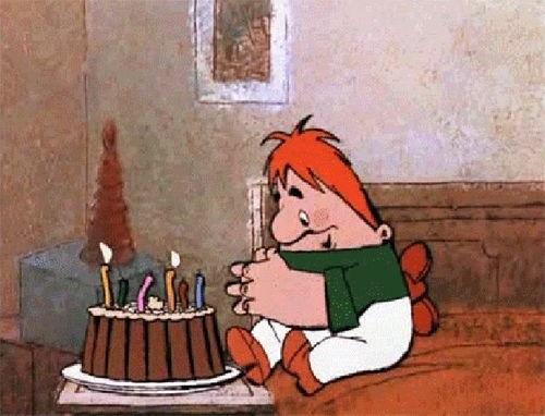 Милая открытка на День рождения тумблер (25)