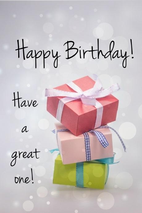 Милая открытка на День рождения тумблер (26)
