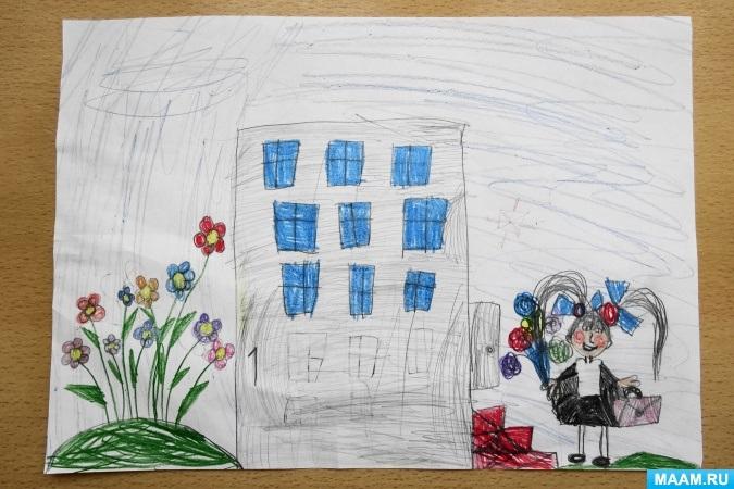 Прикольные рисунок скоро в школу карандашом (1)