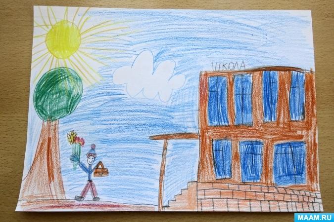 Прикольные рисунок скоро в школу карандашом (16)